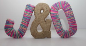 8-free-standing-personalized-paper-mache-letters-with-multicolored-wool-yarn-and-jute-symbol-wedding-decor-home-decor
